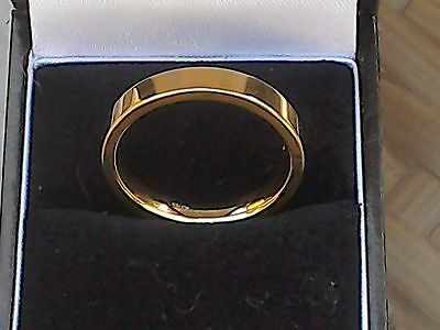 9ct Gold Mens FLAT COURT  Wedding Ring   NEW  ... S 1/2 ... 5.3gm