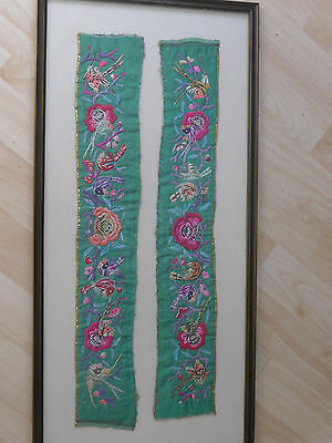 Antique / Vintage Silk Chinese Embroidery Panels