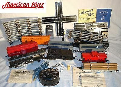 ஐღ American Flyer 1953 Train Set  - Tracks, Locomotive, Cars, Manuals, Transf...