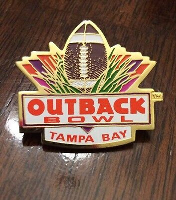 Outback Steakhouse Outback Bowl Tampa Bay Collectors Pin Hat Lapel Football