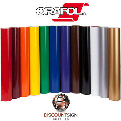 "10 Rolls Oracal 651 Craft/Sign Adhesive Vinyl 12"" x 10' (Feet)- 63 Colors"