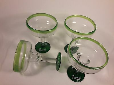 Hand Made Promotional  Cuervo Margarita Glasses Set of Four  b10
