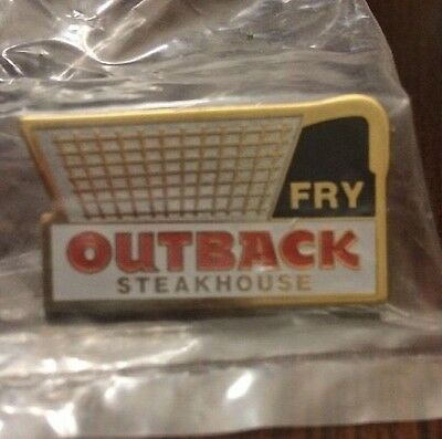 Outback Steakhouse Fry Pin Employee Collectors Hat Lapel Pin Fry Basket New