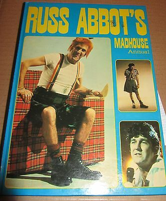 Russ Abbots   Madhouse     - 1983  Annual  Signed  X 2 Times  -  Uacc + Coa