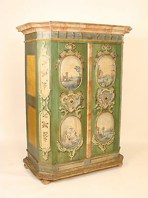 Continental painted armoire