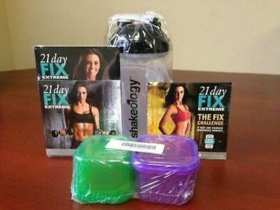 Brand New! 21 Day Fix Extreme With Portion Control Containers And Bonus Dvd!