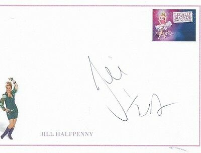 Jill Halfpenny British Actress Hand signed Card 8 x 6