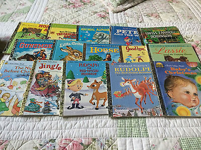 Bulk Lot of 15 Little Golden Books