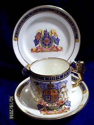 Rare 1937 Coronation Paragon China Hrh King Edward Viii Cup ,saucer & Plate Trio