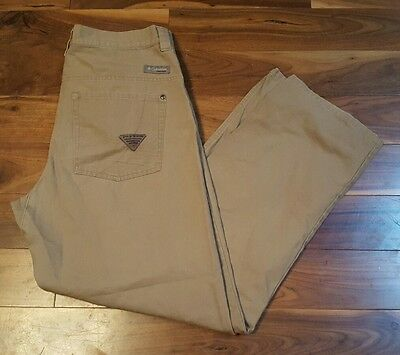 Columbia Men's PHG Khaki Tan Performance Hunting Gear Outdoor Pants Size 34  P