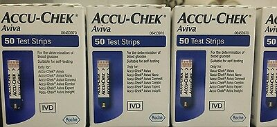 Accu-Chek Aviva 1x50 test strips Brand New sealed Exp-31/07/2018 -  31/08/2018