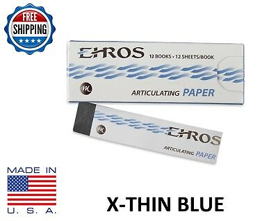 """DENTAL ARTICULATING PAPER (EXTRA) X-THIN (0.0015"""") BLUE  144 Sheets  MADE IN USA"""