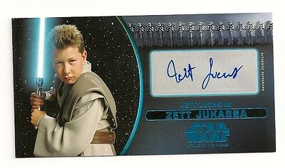 2016 Star Wars Attack Of The Clones 3D Jett Lucas Auto Jett Jukassa