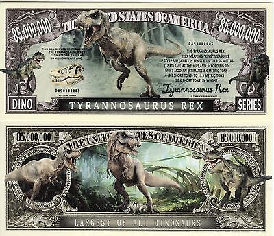 Tyrannosaurus Rex Dino Series Million Dollar Novelty Money