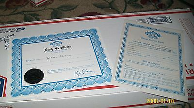 CABBAGE PATCH SOFT SCULPTURE BIRTH CERT/ADOpt LAPIS  ed 90 BOY OR GIRL
