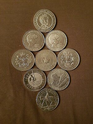 Collection Of 11 x £5 Five Pound Coins Job Lot