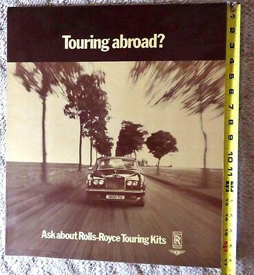 """Touring Abroad? """"ask About Rolls-Royce Touring Kit"""" Cardboard Advertisement"""