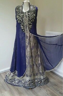 Asian Indian Pakistani Wedding Party Wear Dress