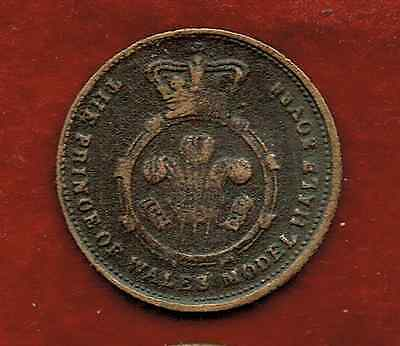 The Prince Of Wales Model Half Sovereign...copper. Victoria Queen Of G.b.
