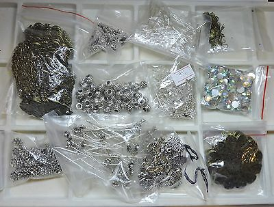 Large Lot of Jewelry Making Supplies and Findings - Free Shipping  (Lot #17)