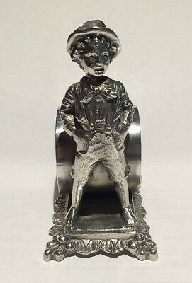 Antique Silverplate Figural Napkin Ring Tom Sawyer Barbour Silver Co. #8