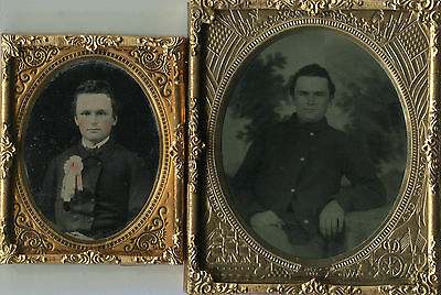 Ambrotype and Tintype of Courtland Prowell 7th/202nd Pa. Inf. Civil War