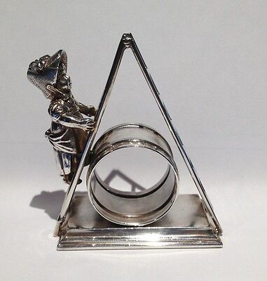 Antique Silverplate Figural Napkin Ring Kate Greenaway Girl On a Ladder