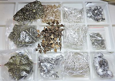 Large Lot of Jewelry Making Supplies and Findings - Free Shipping  (Lot #13)