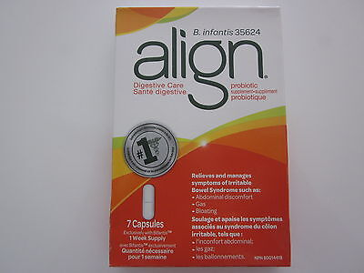 Align - Digestive Care Probiotic - 1 Week Supply - 7 Capsules - Brand New In Box