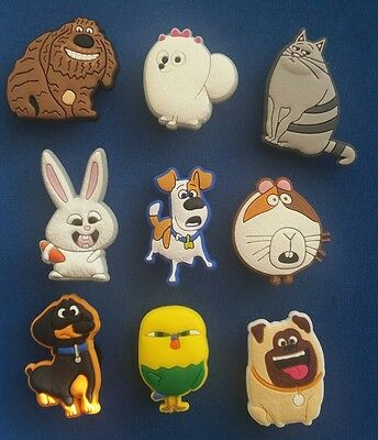 9 Pc Secret Life Of Pets Movies Jibbitz Shoe Charms Toppers Party Favors Bands