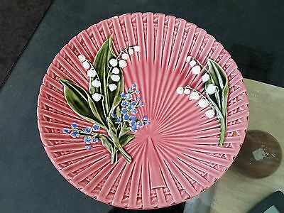 Vintage Germany Marie Louise Handpainted Foxglove Ceramic Pottery Plate