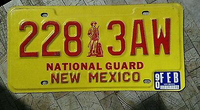 1990 New Mexico National Guard license plate