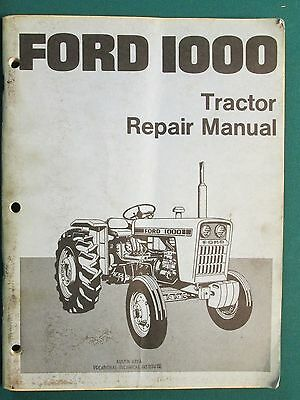 Ford 1000 Repair Manual