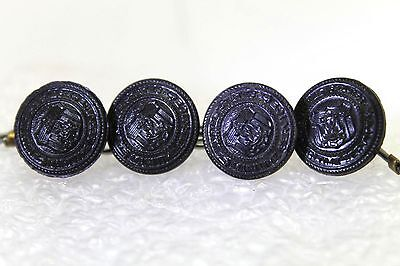 WWII United States Maritime Service black buttons 24L 16mm 5/8in lot of 4 B8977