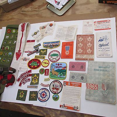 Vintage Boy Scouts of America Lot Patches BSA SASH GUIDES ARROW 60'S !! RARE