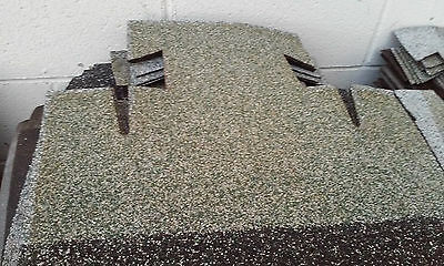 *new* Vintage Green  & White T-Lock Roofing Shingles