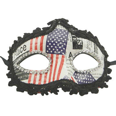 American USA Flag Halloween Eye Face Mask Masquerade Party Ball Prom Costume New