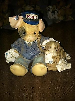 This little piggy TLP Collection mail man  pig and puppy dog