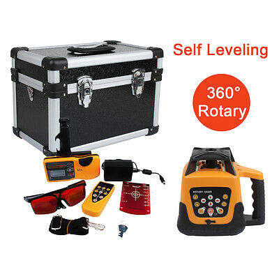 500M Range Auto Self Leveling Rotary Rotating Laser Level Red Beam W/ Case