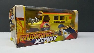 (NEW Sealed) Philippines Jeepney (Yellow) Die-cast Metal Pull-back Action Manila