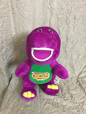 Barney and Friends Colorful World Singing I Love You 12' Plush Purple Dinosaur