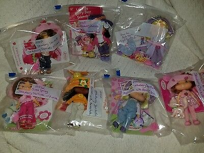 2002 Strawberry Shortcake Doll collection 7 dolls lot NEW Never played with