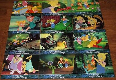 Stanley`s Magic Garden lobby card set 12 Don Bluth animation troll