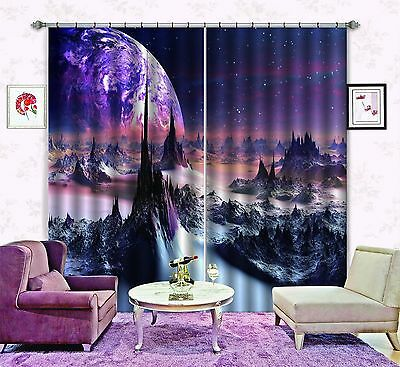 3D Planet 77 Blockout Photo Curtain Printing Curtains Drapes Fabric Window CA