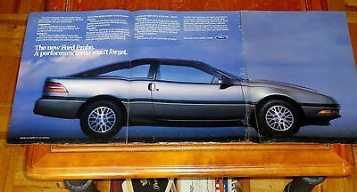 Blue 1988 Ford Probe Large 13 X 33 Inch Intro Ad - Retro 80S Vintage American