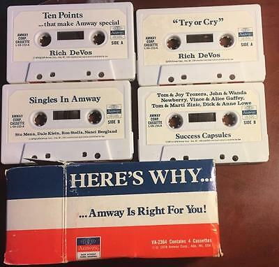 Amway Vintage 70s Cassette Tapes Lot of 8 CHEAP