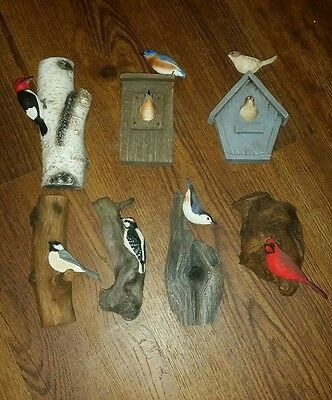 Richard Lamson Hand Painted 7 Piece Bird Collection Signed  ++ Best Price Online