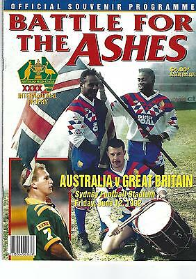 AUSTRALIA v GREAT BRITAIN First Test at Sydney Football Stadium, 12th June 1992