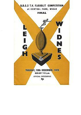 BBC Floodlit Trophy Final 19th December 1972 LEIGH v WIDNES at Wigan