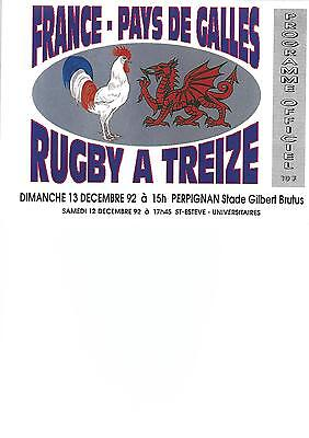FRANCE v WALES at Perpignan, 13th December 1992